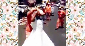 VIDEO Empleados de limpia pública encuentran vestido y arman su 'Quinceañera'