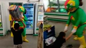 VIDEO: Captan impactante pelea entre 'Mamá Lucha' y un niño