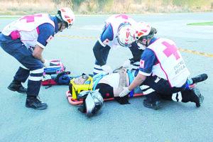 Resulta lesionado luego de derrapar