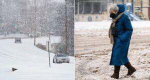 Abuela caminó 10 km en la nieve para recibir vacuna anticovid