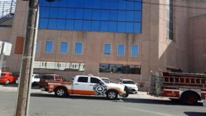 Se registra explosión en edificio de Banorte en Monterrey