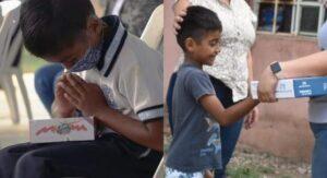 Niño que rezó al recibir tablet, obtiene un módem para internet