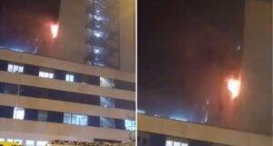 Paciente con coronavirus provoca incendio en hospital