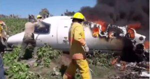 Reportan siete muertos tras accidente aéreo de la fuerza aérea