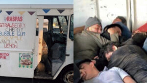 Laredo: Aseguran a  14 indocumentados dentro de camión de helados