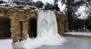 Jardín Botánico de Dallas quedó como escenario de película por la nevada FOTOS