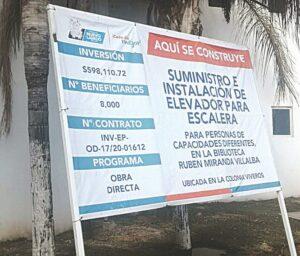 Infla gobierno de Rivas el precio de silla elevador en 400%