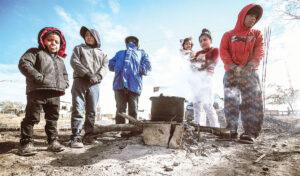 El poniente de Nuevo Laredo congelado