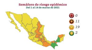 Ni un rojo en semáforo covid, México se 'pinta' de amarillo