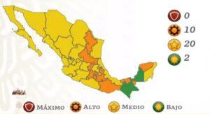 Semáforo COVID: Chiapas y Campeche en verde y ningún estado se queda en rojo