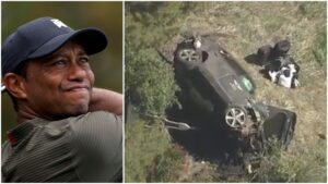 Tiger Woods sufre accidente automovilístico; está hospitalizado (VIDEO)