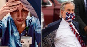 """""""ME RINDO"""" exclama enfermera cuando se entera que cubrebocas ya no es obligatorio en Texas"""